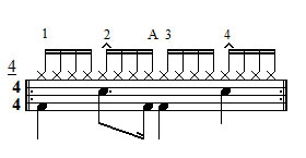 Exercise 4 - 16th notes groove bass drum bounce