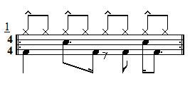Intermediate Drum Lesson - Hi-Hat Accent Ideas Exercise 1