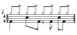 Intermediate Drum Lesson - Hi-Hat Accent Ideas Exercise 2