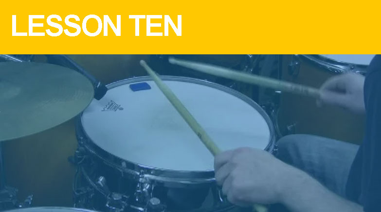 Beginner Drum Lesson 10 - Double Strokes
