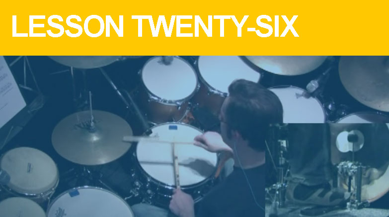 Intermediate Drum Lesson Twenty-Six - Hi-Hat Accent Ideas
